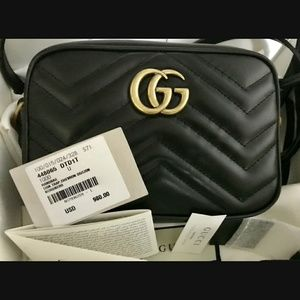 Gucci Marmont Mini Crossbody Camera Bag Black